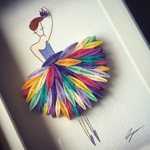 pictures of paper quilling art