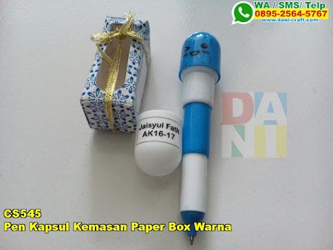 Pen Kapsul Kemasan Paper Box Warna
