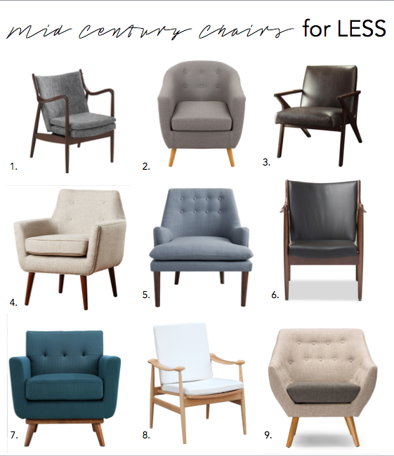 CRYSTAL ANN: Mid Century Chairs for LESS