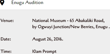 nollywood acting auditions enugu