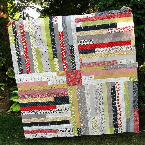 Four Corners Quilt Free Tutorial Designed by Melinda of Quirky Granola Girl