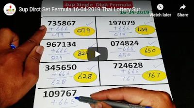 Thailand lottery lucky number tips 3up Direct Set Formula 16 April 2019