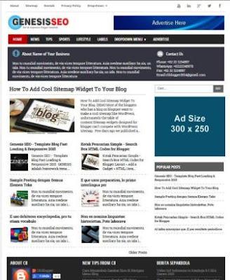 Genesis SEO - Best Premium Blogger Template