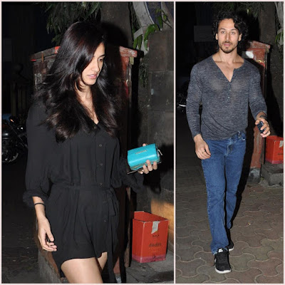 Disha Patani and Tiger Shroff spotted at Bandra