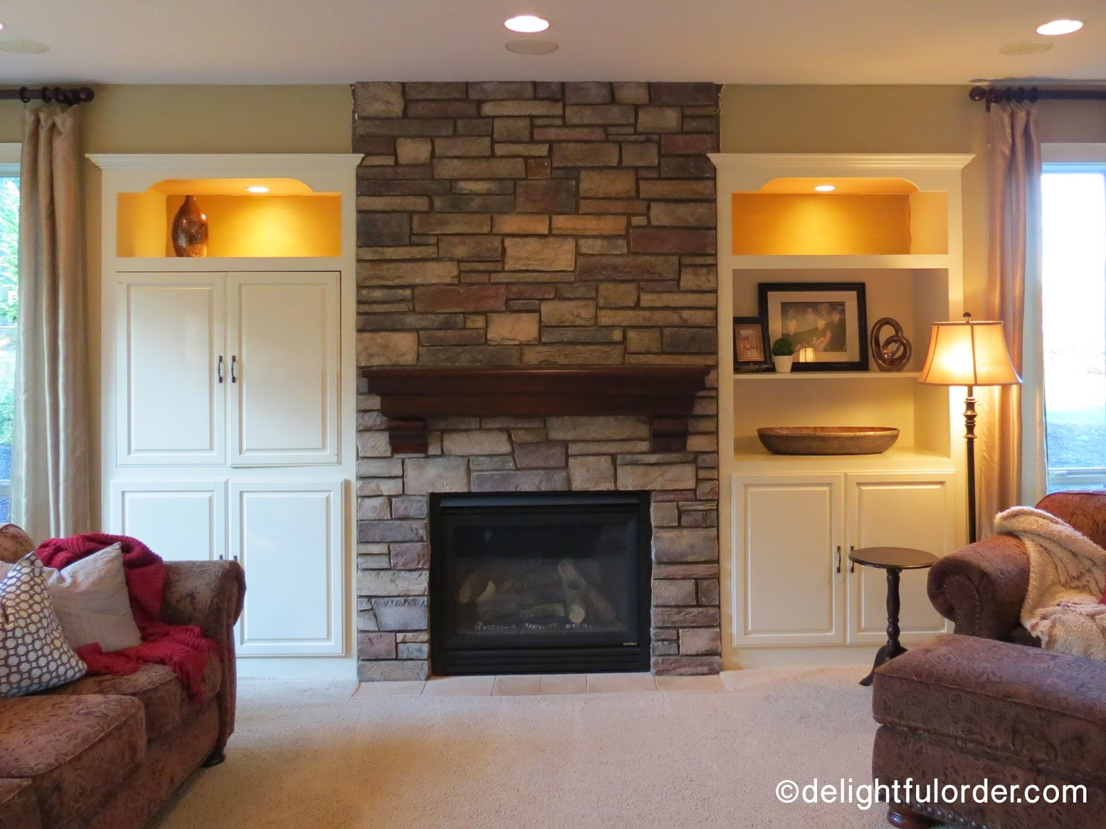 Delightful Order: New Fireplace and Mantel