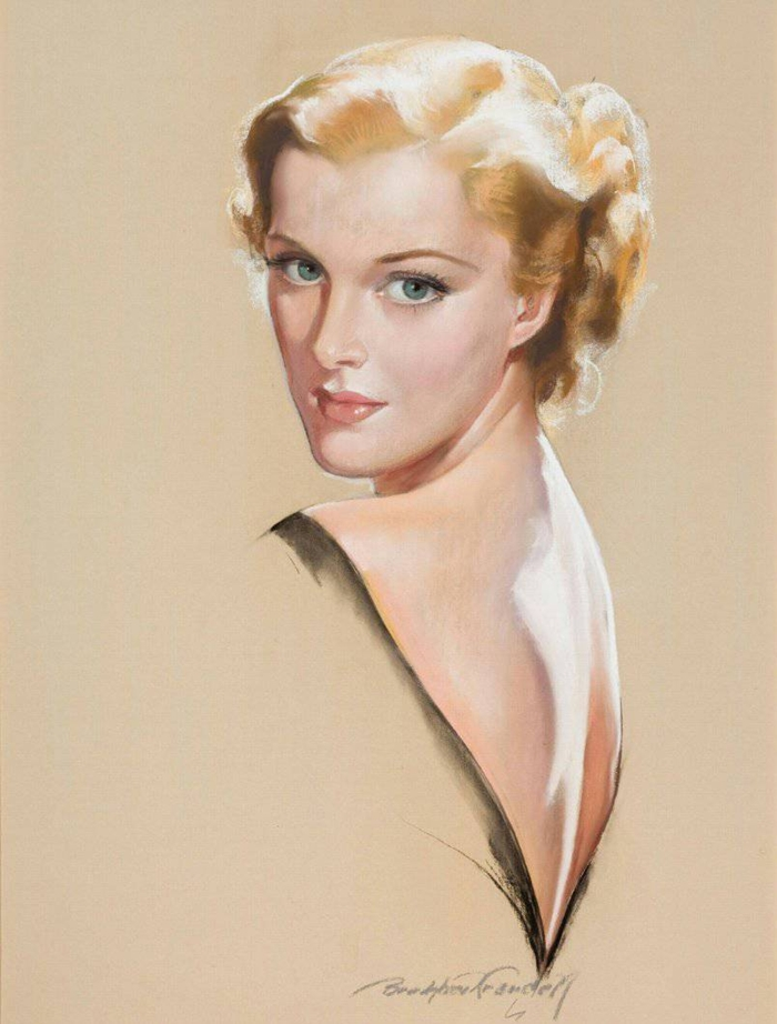 John Bradshaw Crandell 1896-1966 | American Glamour and Pin-Up painter