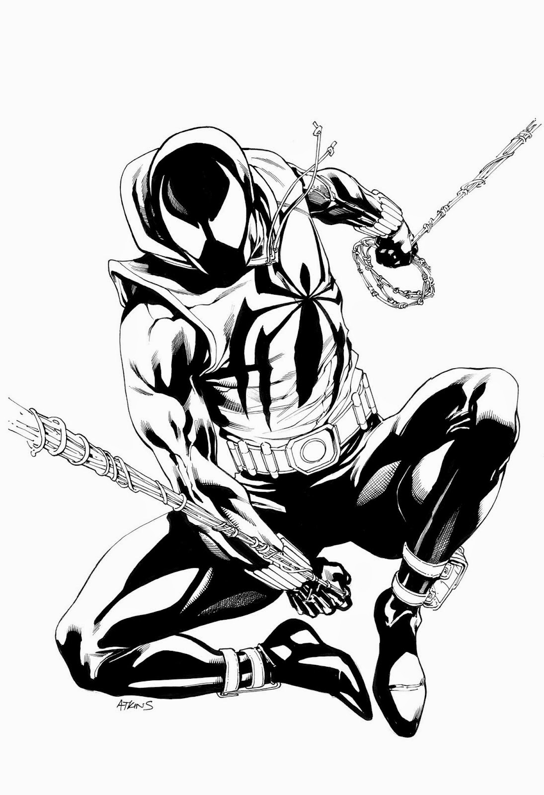 My Useless Art: Scarlet Spider-Man Drawing