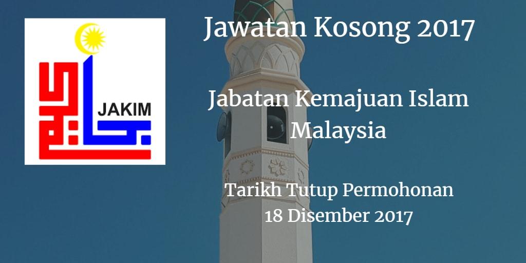 Jawatan Kosong JAKIM 18 Disember 2017