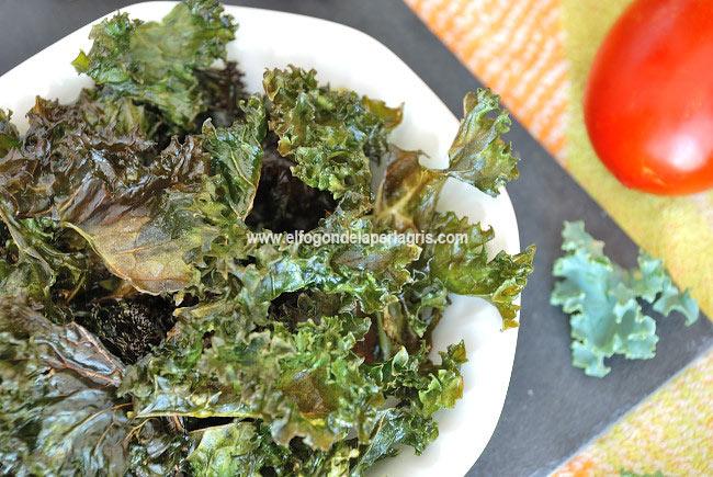 Receta de kale chips al horno