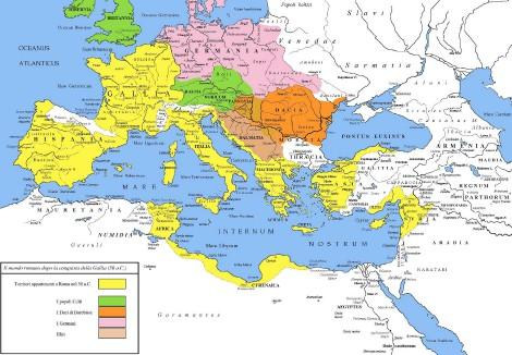 El Mundo Romano tras las conquistas de César