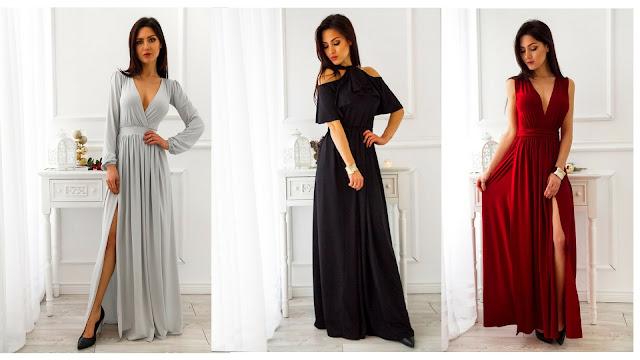 Tanie długie sukienki