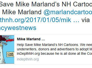 Help Save @marlandcartoons- Help Him Move To InDepthNH.org