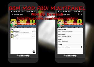 Download BBM MOD FBUI Multipanel APK V3.0.0.18 Terbaru