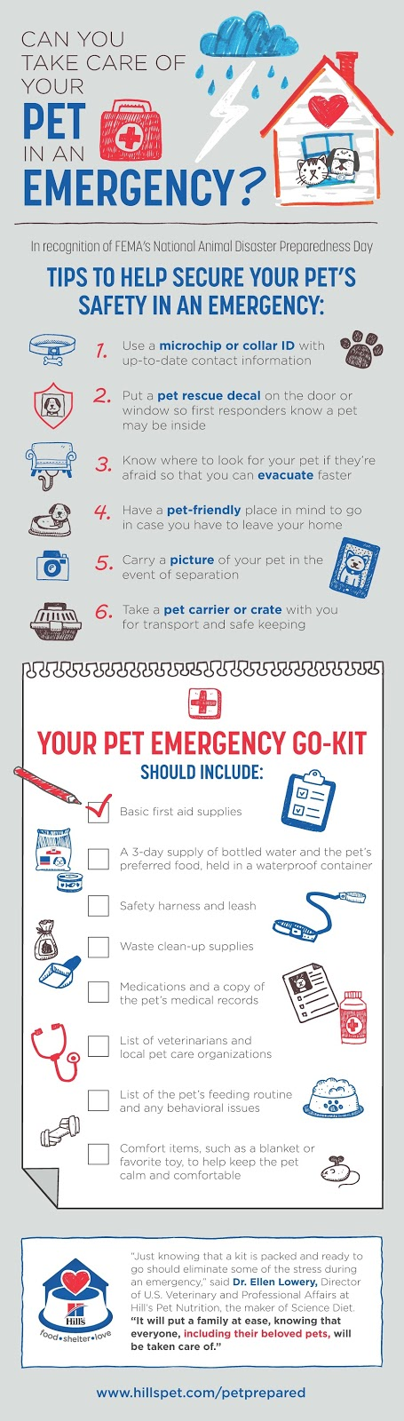 #PetPrepared Pet Safety Tips from @HillsPet #sponsored