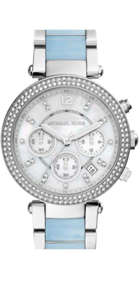 Michael Kors 'Parker' Chronograph Watch, 39mm Pale Blue