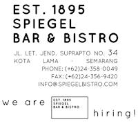 Lowongan Head Cook & Cook di Spiegel Bar & Bistro – Semarang