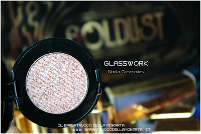 GLASSWORK recensione eyeshadow ombretto  goldust collection Nabla cosmetics