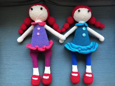 Crochet doll, hæklet dukke, pattern, mønster