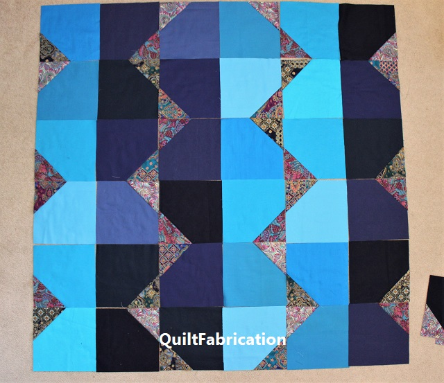 small, incomplete version of the Summer quilt