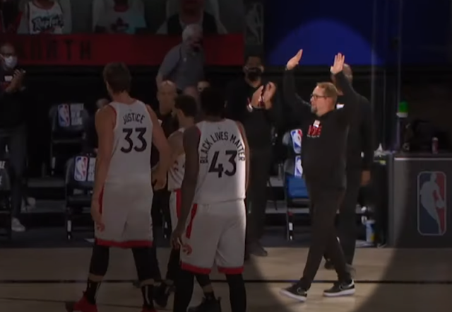 Nick Nurse left hanging on high-fives by his own players