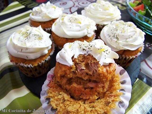 Muffins y Cupcakes Salados de Atún con Tomate
