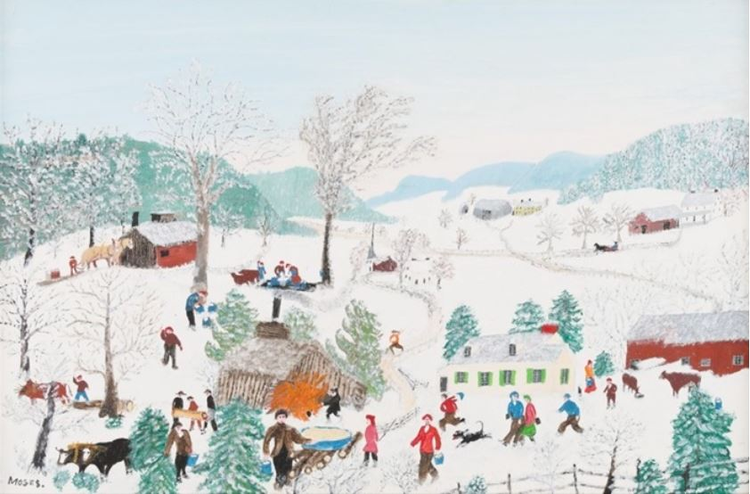 Christmas Homecoming Rockwell.Buzzy S Country Store Grandma Moses And Norman