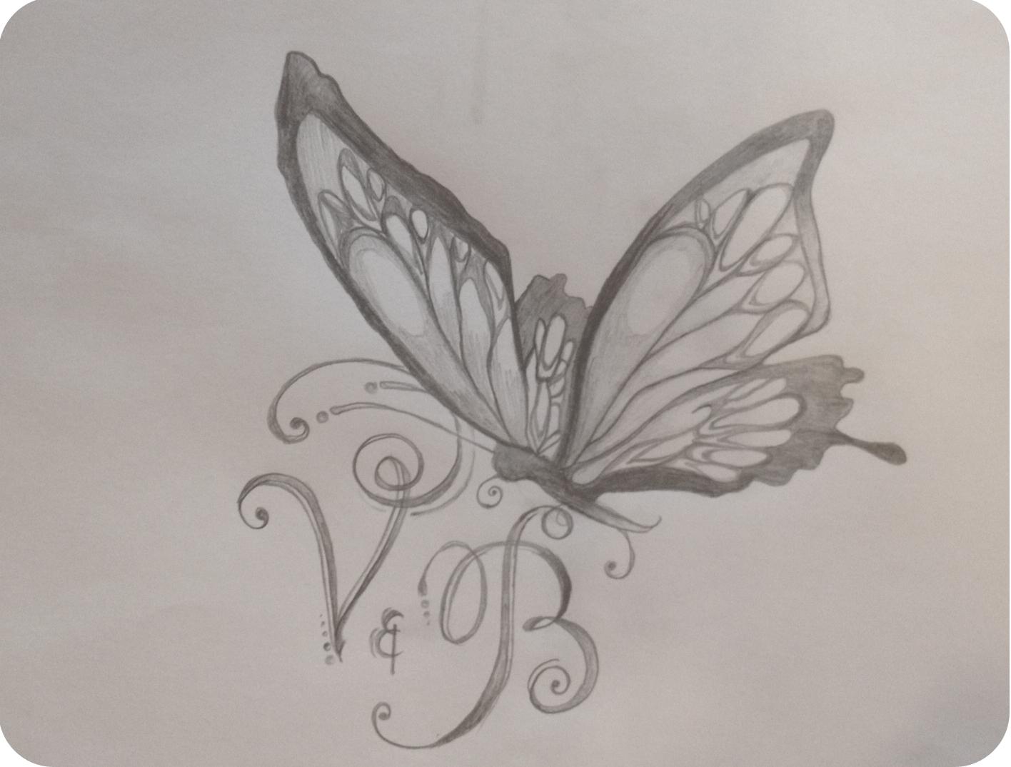 Efterstræbte Minimuffs Beautyblog ♥: TATTOO zeichnen | Butterfly Letters CG-16