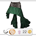 HB Emerald Flamenco Skirt
