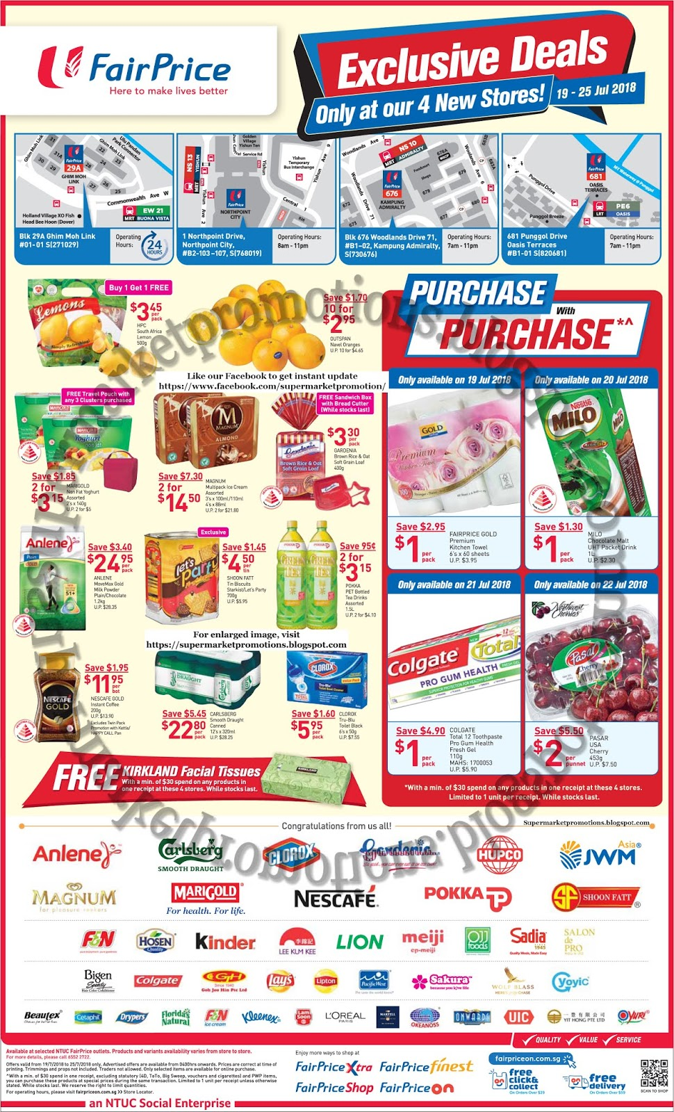 Ntuc Fairprice Exclusive Deals 19 25 July 2018 Supermarket Promotions