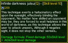 naruto castle defense 6.0 Tobirama Infinite darkness jutsu detail