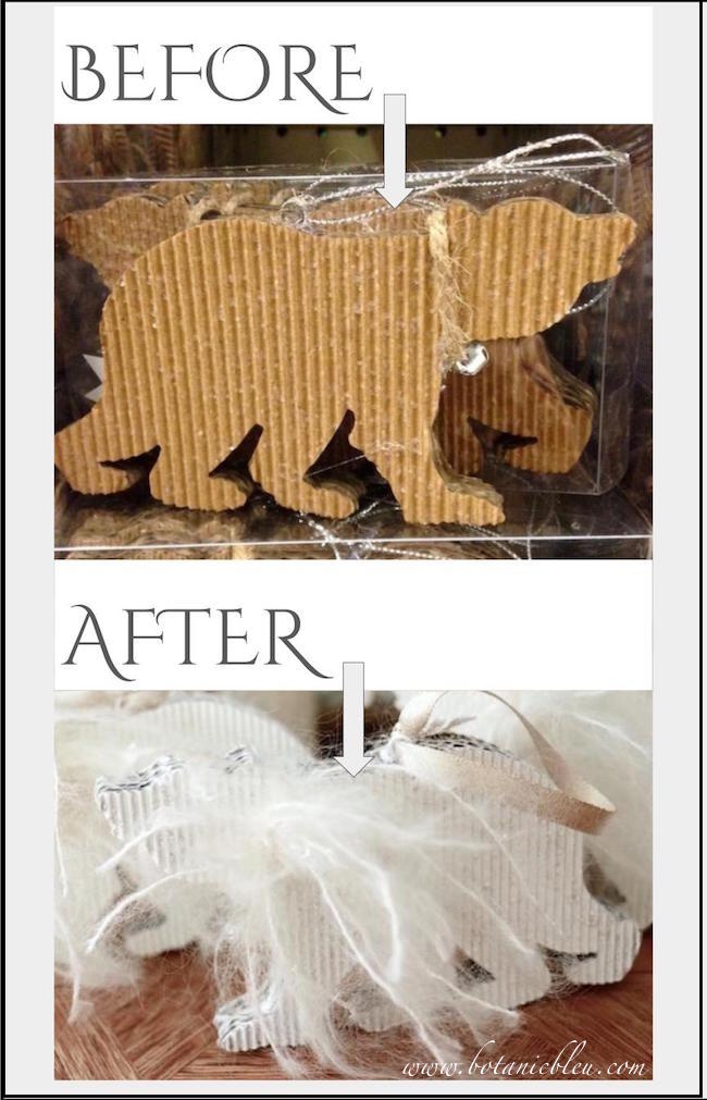 before-after-photos-diy-white-mohair-polar-bear-christmas-ornament