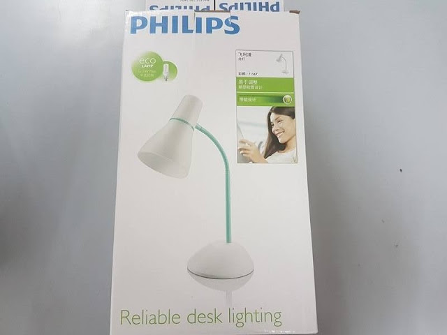 Philips 71567 PEAR table lamp goose-neck designed for energy saving/LED bulb