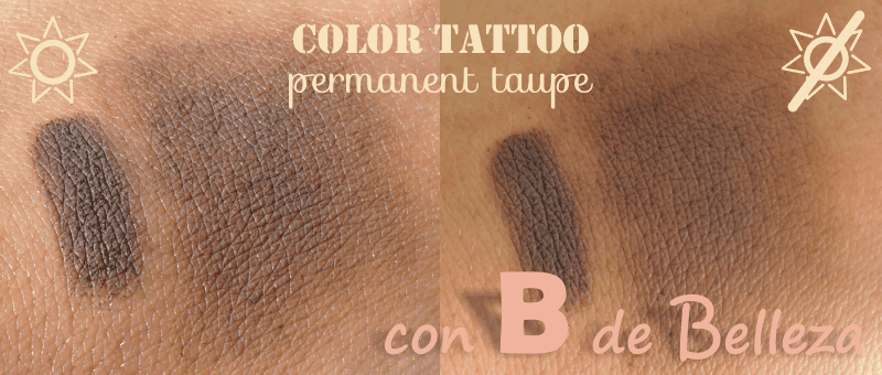 Swatch Permanent taupe Maybelline