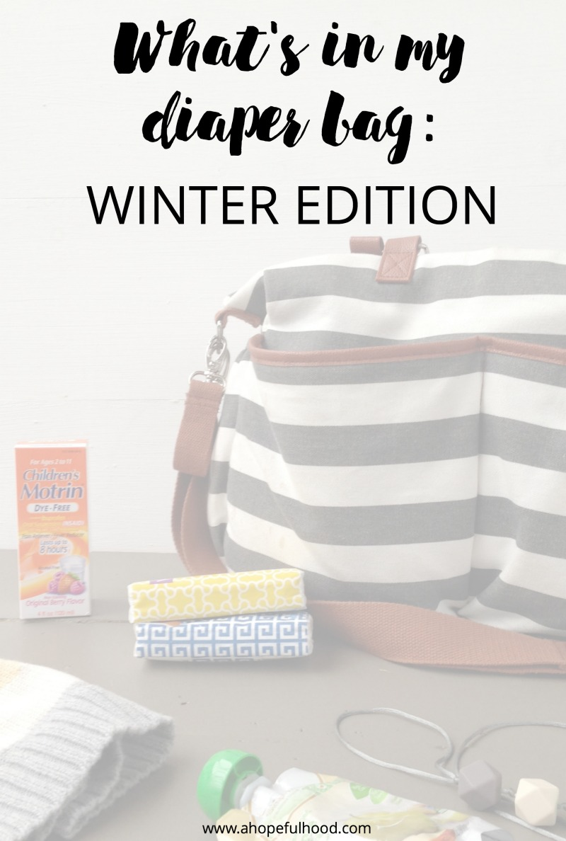 5 things to carry in your diaper bag this winter #momlife