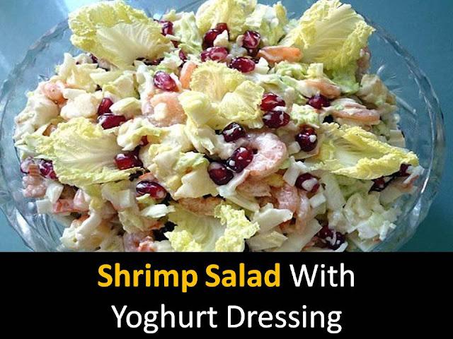 Shrimp Salad with Yoghurt Dressing
