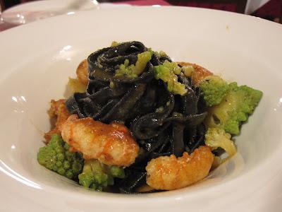 Venice, Vecio Fritolin, black tagliatelle