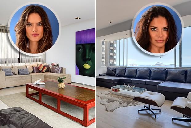 os apartamentos que hospedam Alessandra Ambrosio e Adriana Lima no Rio. Conheça...