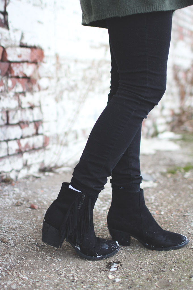ankle boots, booties, black boots