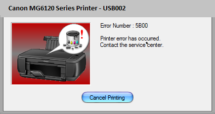 Canon MG6120 Error 5B00 [Solved] | Canon Printer Ink Absorber