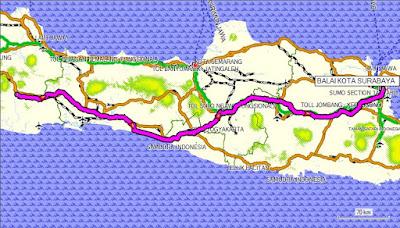 Ilustrasi navigasi menggunakan peta offline dengan software mapsource.