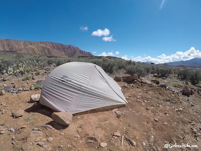 Camping at Gunlock State Park, Utah