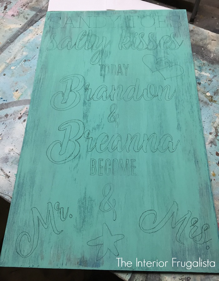 DIY Beach Wedding Sign Graphic Transfer