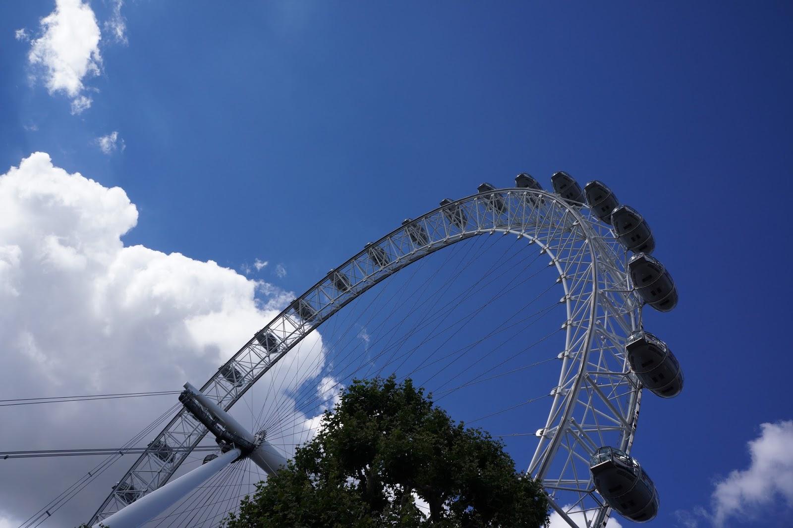 london eye seen from below