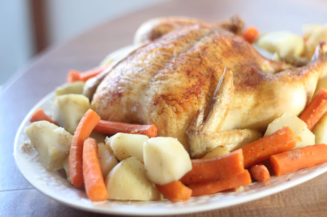 Oven Roasted Chicken recipe from Served Up With Love