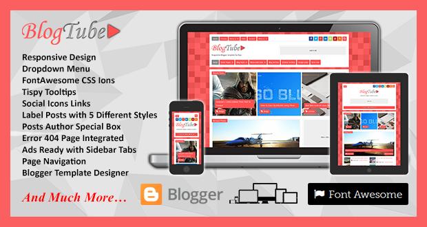BlogTube Responsive Blogger Template videos Pro