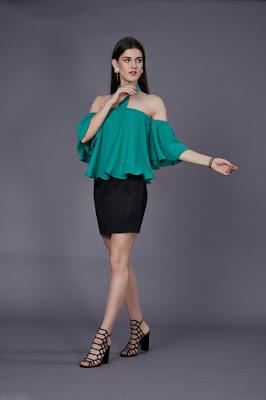 shoulderless, top, midi, தோளில்லா மேல் ஆடை, மிடி,