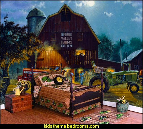 Big Red Barn DH & Chalkboard- Paint-by-Number Wall murals