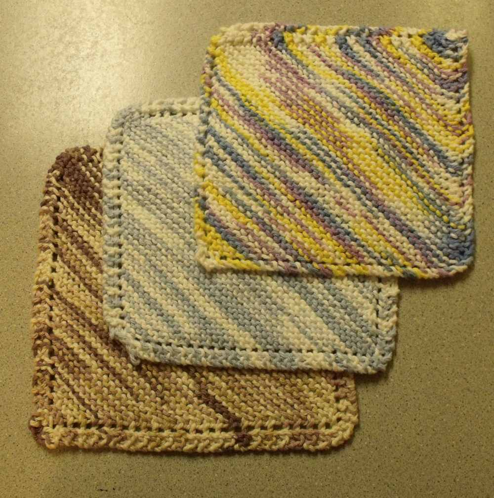 hand knit dishcloths the dishcloth itself is knit along the