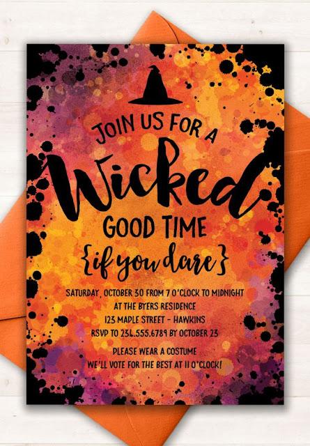 Dia das bruxas convites