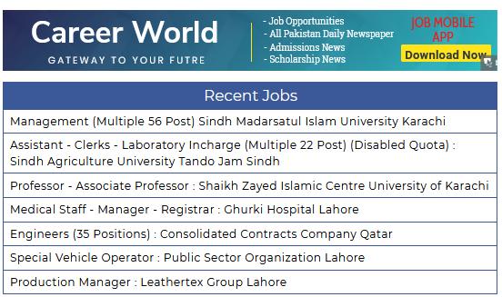 Jobs In Pakistan Saturday 23-02-2019 - Pakistan Jobs